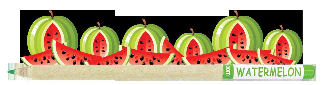 Coloured Smencil - Watermelon