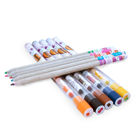Colored Smencils on tubes