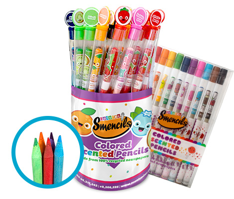Coloured Smencils Bucket